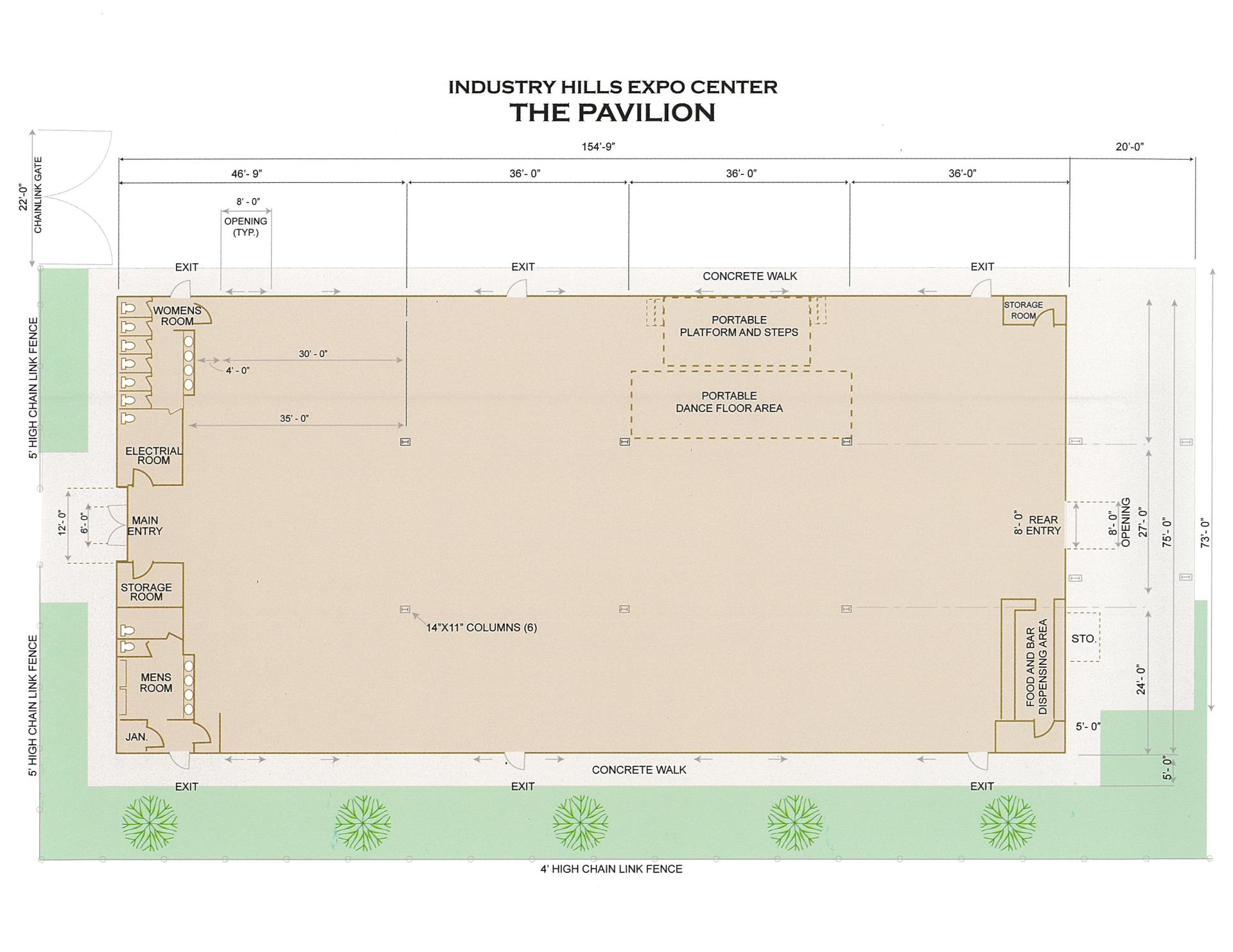 Pavilion Diagram